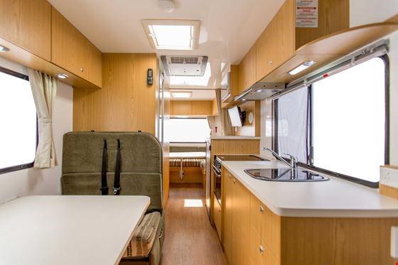 Apollo Deluxe 6 berth Interior - RV Rental Canberra - Campervan Rental Shop