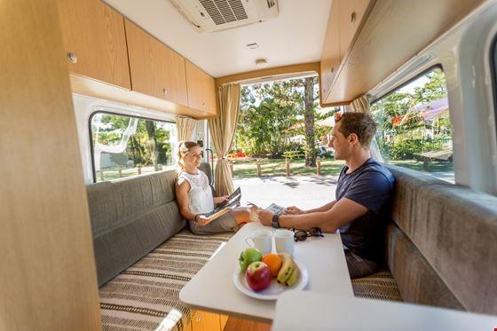 Couple Talking - RV Rental Canberra - Campervan Rental Shop
