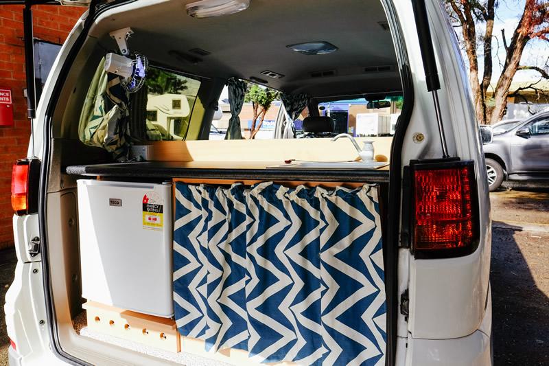 Awesome Campers Elgrand Back - Motorhome Rental Canberra - Campervan Rental Shop