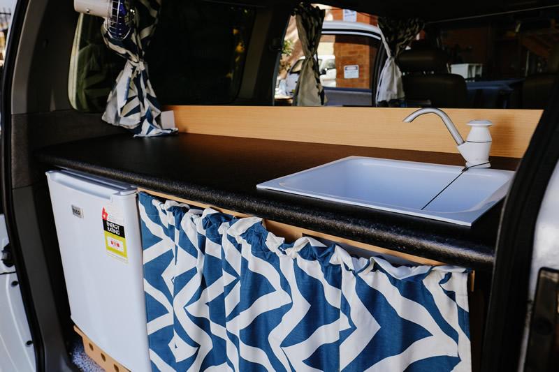 Awesome Campers Elgrand Sink - RV Hire Canberra - Campervan Rental Shop