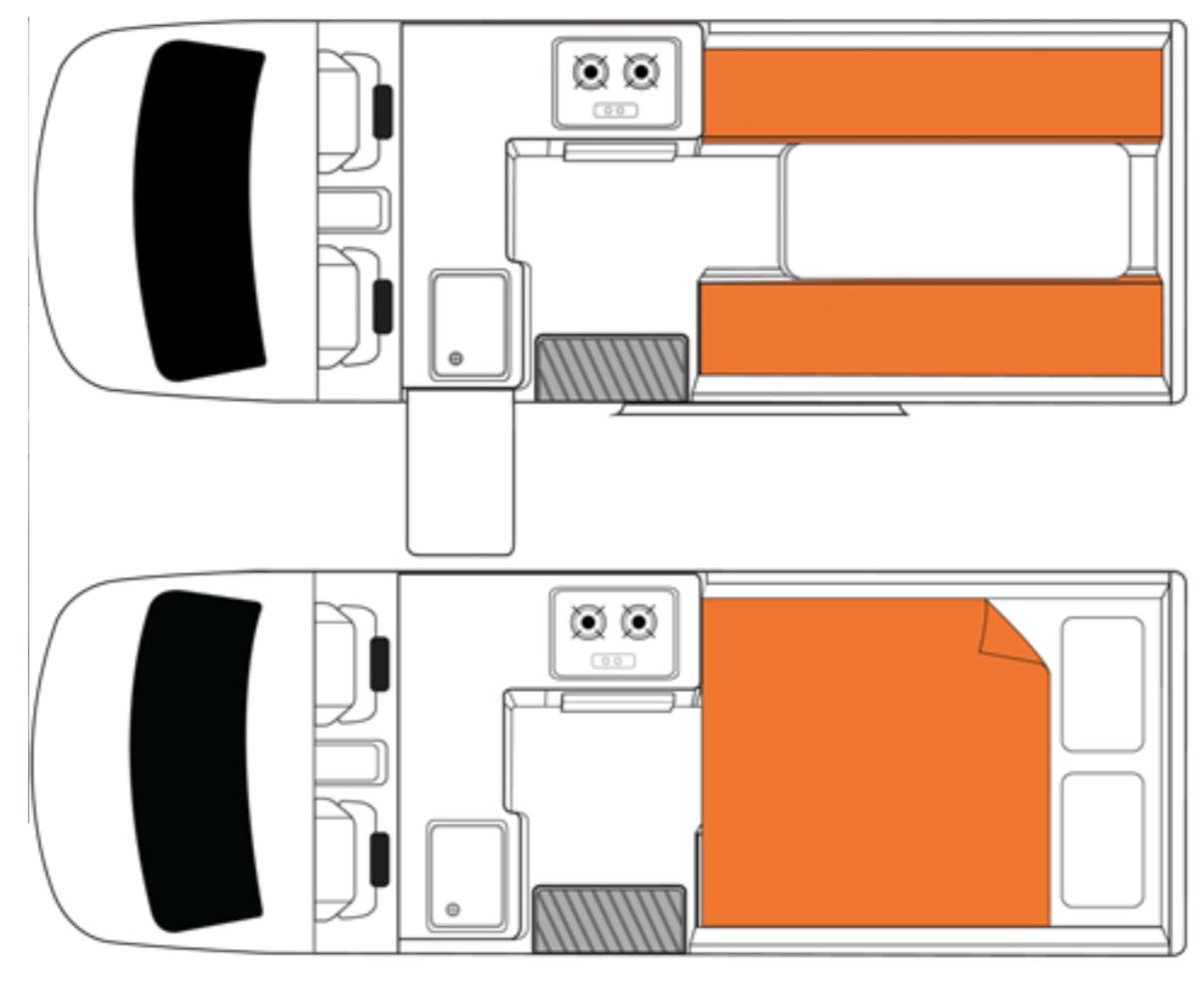Britz-Hi-Top Inside Prototype Design - Camper Hire Sydney - Campervan Rental Shop