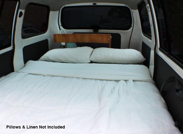 CV Aventus Bed - Motorhome Rental Canberra - Campervan Rental Shop