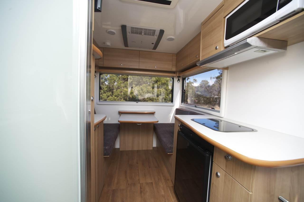 Cruisin Adventurer Interior - Camper Hire Newcastle - Campervan Rental Shop