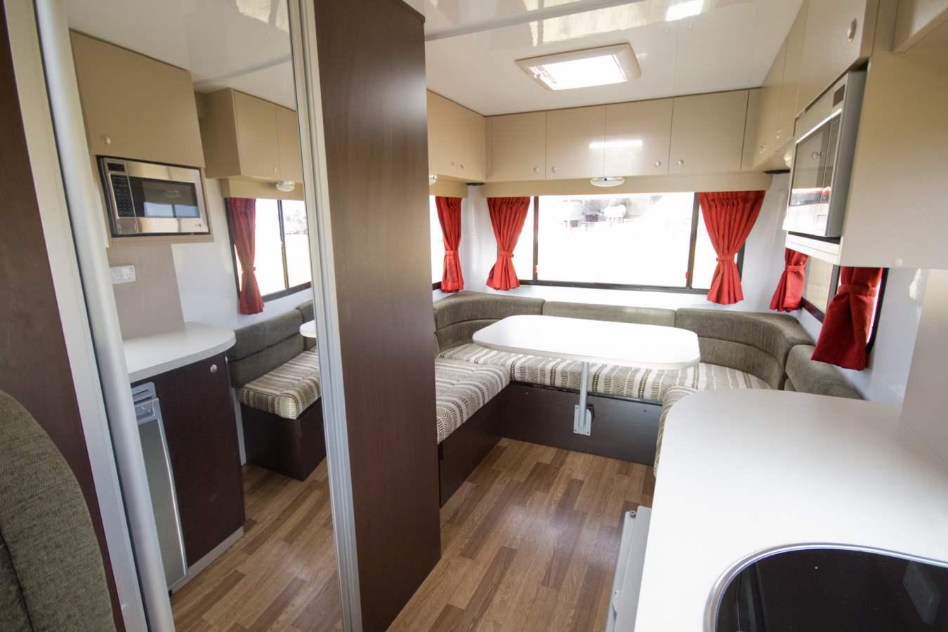 Cruisin Discovery Interior - RV Hire Broome - Campervan Rental Shop