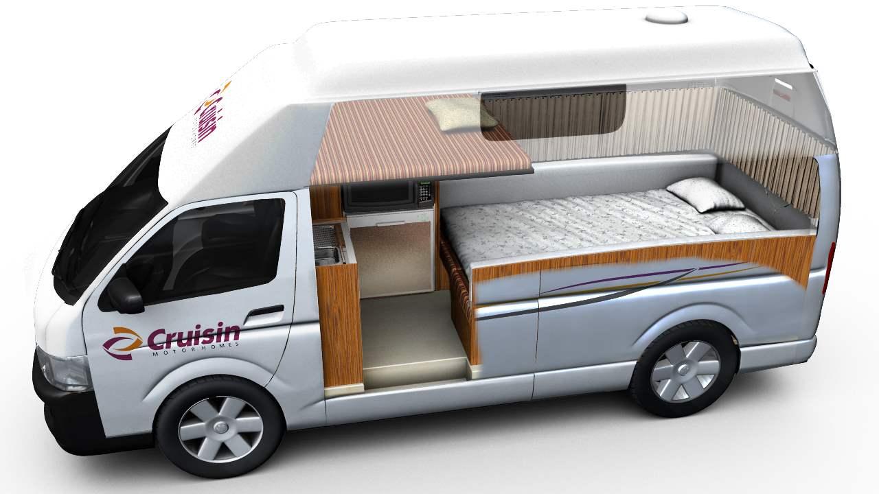 Cruisin Hi-Top Interior Plan - RV Rental Canberra - Campervan Rental Shop