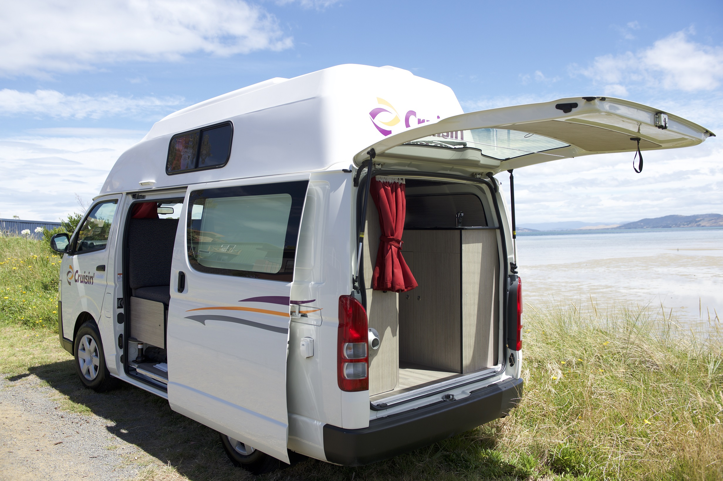 Cruisin Hi-Top 4 Berth Back View - Motorhome Rental Canberra - Campervan Rental Shop