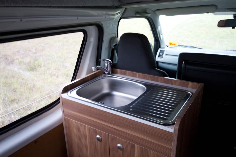 Cruisin Hi-Top Sink - Motorhome Rental Canberra - Campervan Rental Shop