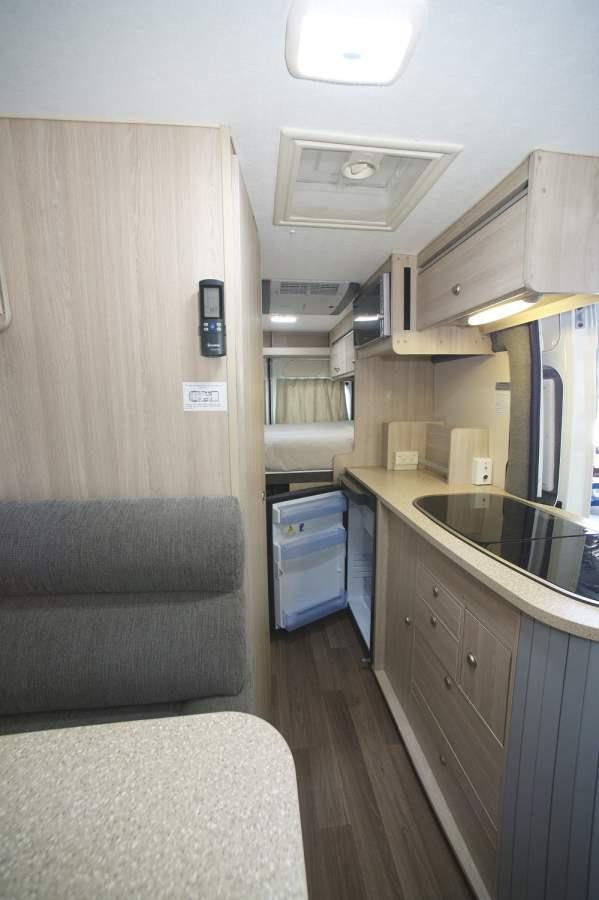 Cruisin Sandpiper Kitchen Area - Camper Rental Byron-Bay - Campervan Rental Shop