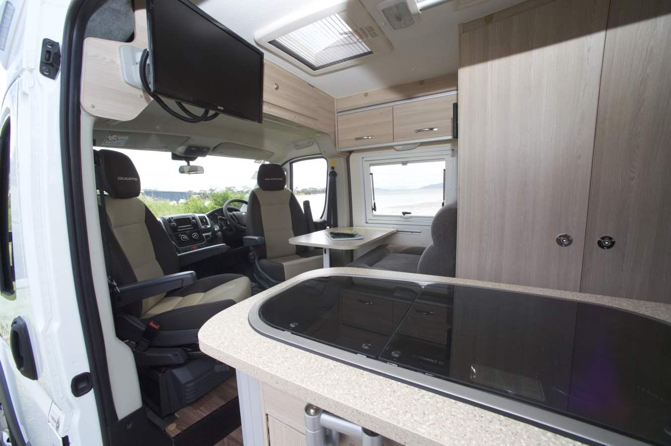 Cruisin Sandpiper Interior - Motorhome Rental Canberra - Campervan Rental Shop