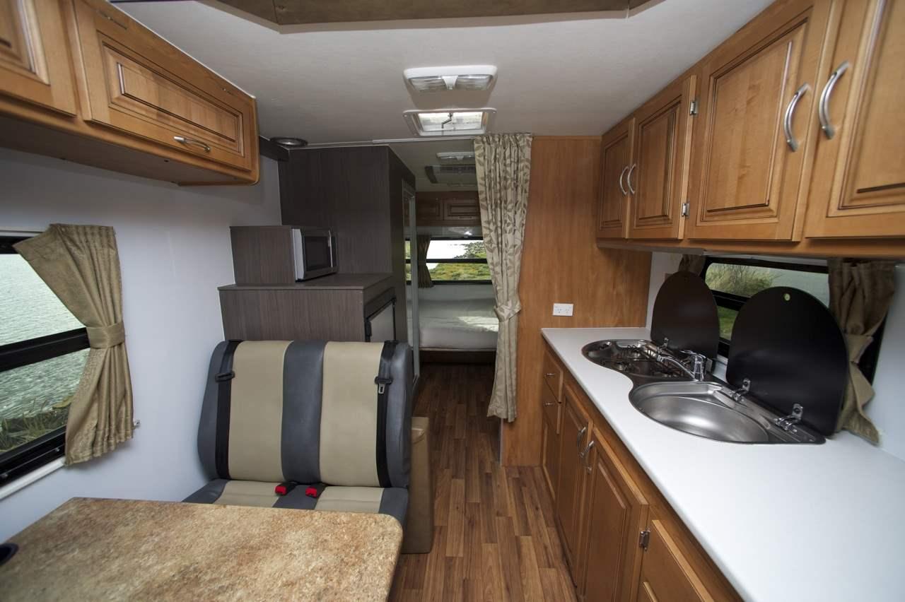 Cruisin Kitchen Area - Camper Rental Byron-Bay - Campervan Rental Shop