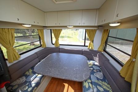 GoCheap Derwent Living Room - RV Hire Adelaide - Campervan Rental Shop