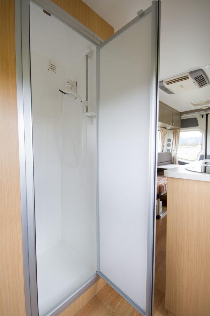 Go Cheap Tamar Shower Area - Motorhome Rental Canberra - Campervan Rental Shop