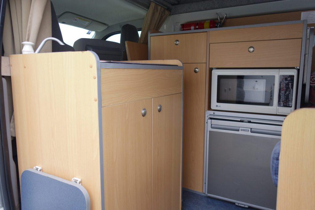 Go Cheap Hi-Top Cabinet - Motorhome Rental Canberra - Campervan Rental Shop