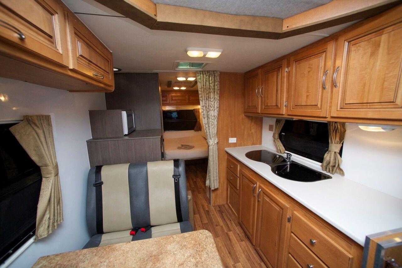 Henty Interior - Camper Hire Newcastle - Campervan Rental Shop