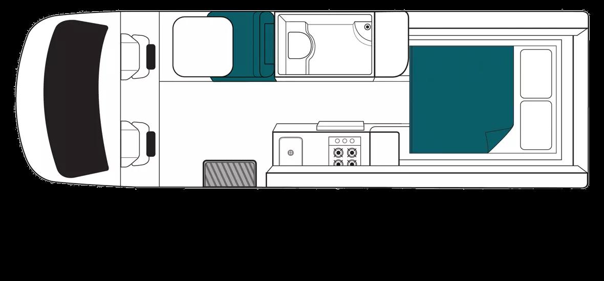Maui Ultima Floor Plan - Motorhome Rental Canberra - Campervan Rental Shop