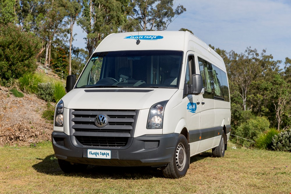 Cheapa 2 Berth Front View - RV Hire Adelaide - Campervan Rental Shop