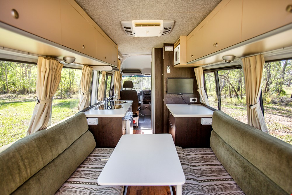 Cheapa 2 Berth Interior - Campervan Hire Sydney - Campervan Rental Shop