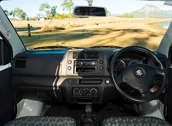 CV Mystery Steering Wheel - RV Rental Canberra - Campervan Rental Shop