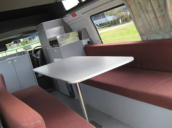 TA Budget Camper Dining Area - Rv Rental Newcastle - Campervan Rental Shop