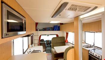 Euro Star Interior- RV Rental Hobart - Campervan Rental Shop