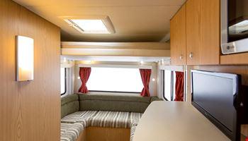 Euro Star Living Room Interior - RV Hire Canberra - Campervan Rental Shop