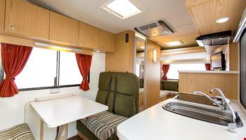 Euro Star Kitchen Area - Camper Rental Byron-Bay - Campervan Rental Shop