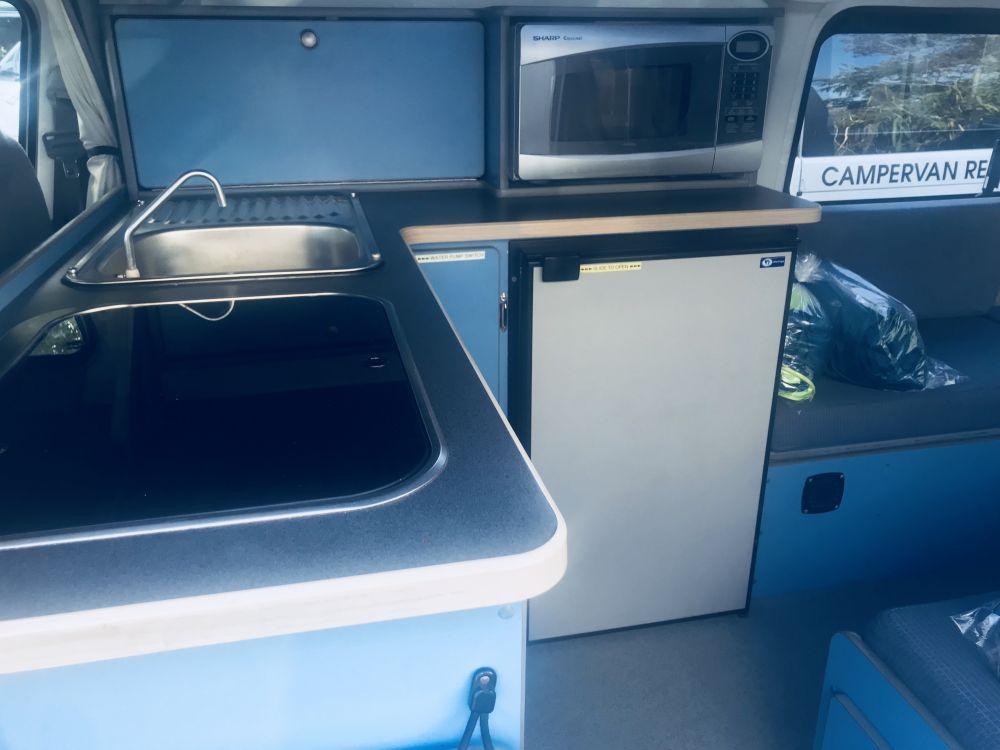 Campervan Sink - RV Hire Canberra - Campervan Rental Shop