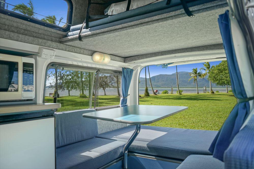Campervan Living Room 1 - RV Hire Canberra - Campervan Rental Shop