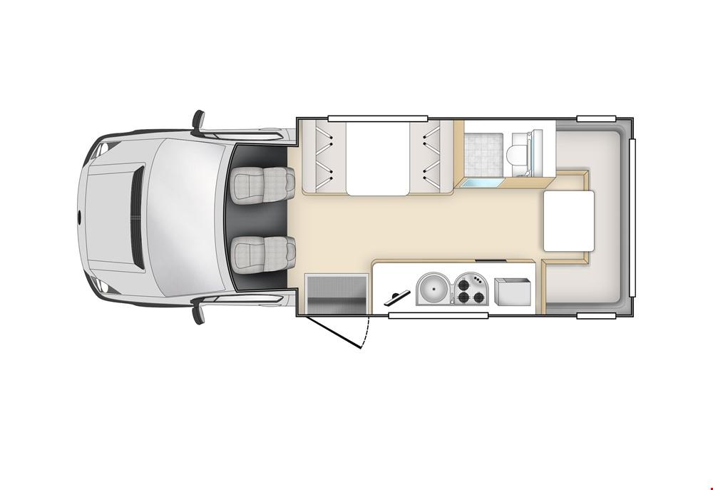 Star RV Hercules Floor Plan - RV Rental Melbourne - Campervan Rental Shop