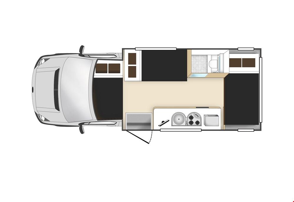 Star RV Hercules Floor Plan - Motorhome Rental Hobart - Campervan Rental Shop