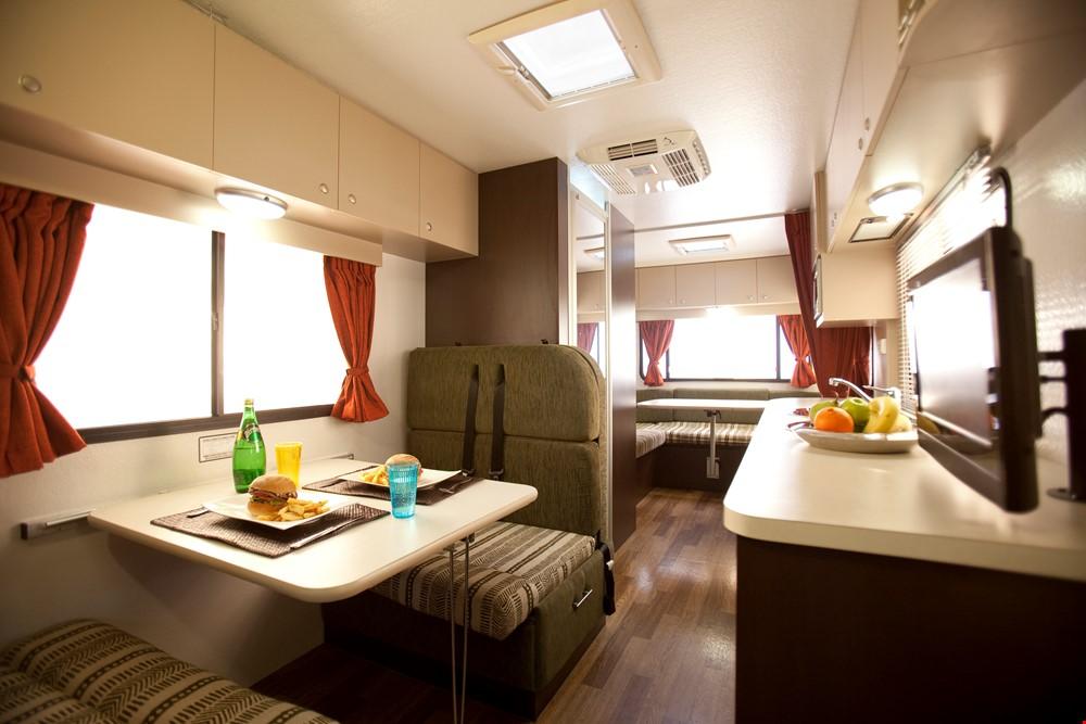 Star RV Herculer RV Interior - Salamanca Campervan Hire - Campervan Rental Shop
