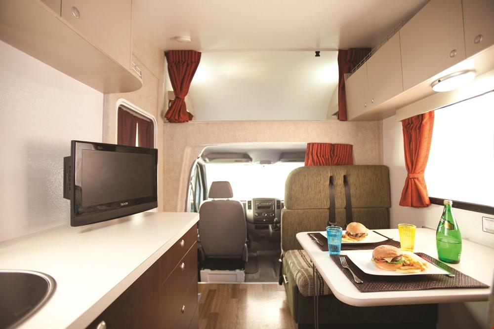 Star RV Hercules Interior- RV Rental Canberra - Campervan Rental Shop