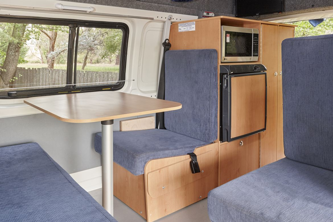 Herts Hi-Top Living Room - Adelaide Hills campervan hire - Campervan Rental Shop