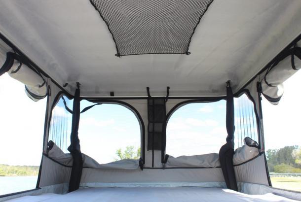 Spaceship Beta Sleeping Area - Motorhome Rental Canberra - Campervan Rental Shop