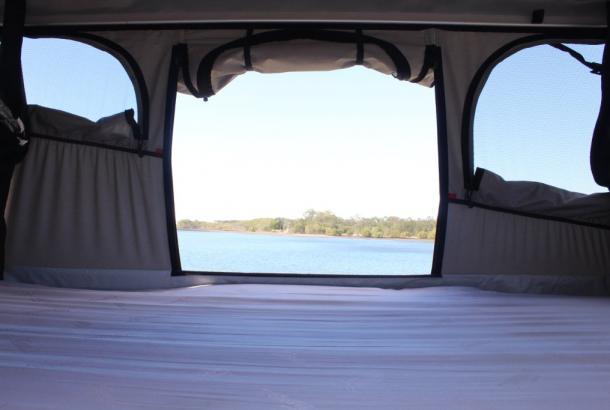 Spaceship Beta Sleeping Area - Camper Hire Newcastle - Campervan Rental Shop
