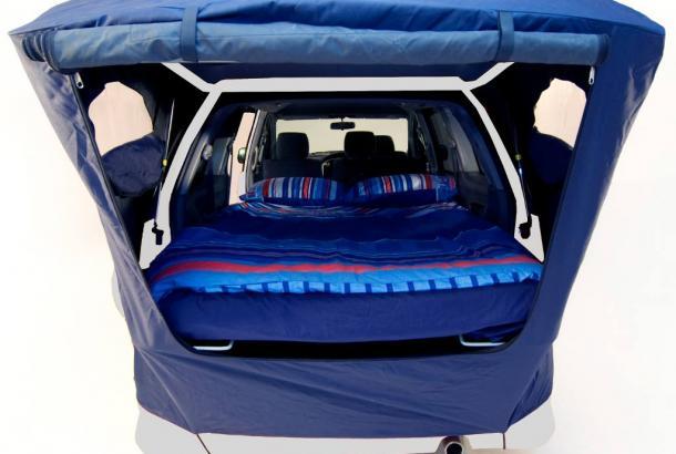 Spaceship Deta Sleeping Area - RV Rental Canberra - Campervan Rental Shop