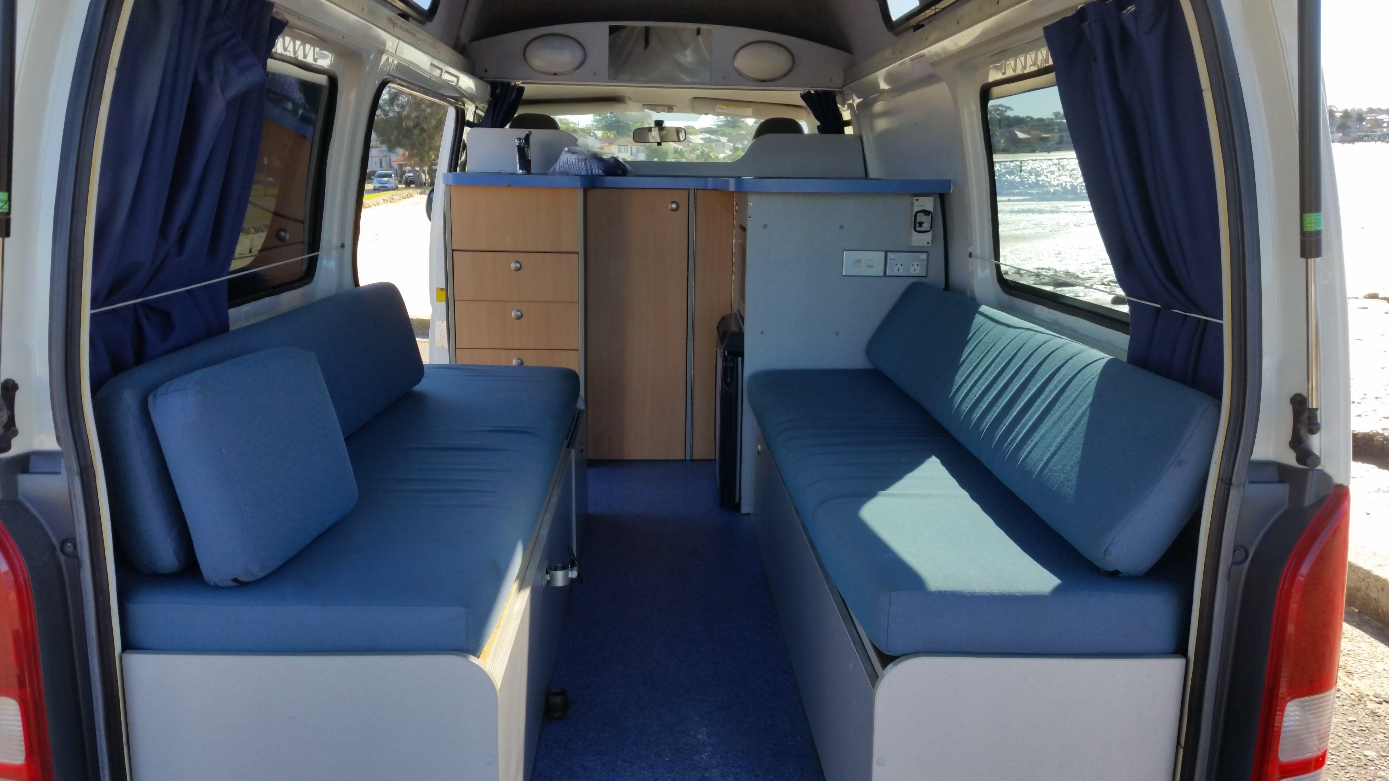 Campervan Interior 2 - RV Rental Canberra - Campervan Rental Shop