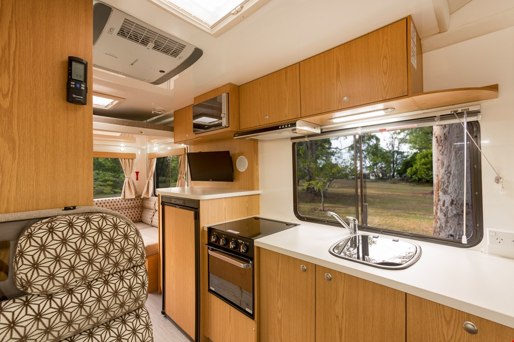 Star RV Pandora Kitchen Interior - Campervan Rental Hobart - Campervan Rental Shop