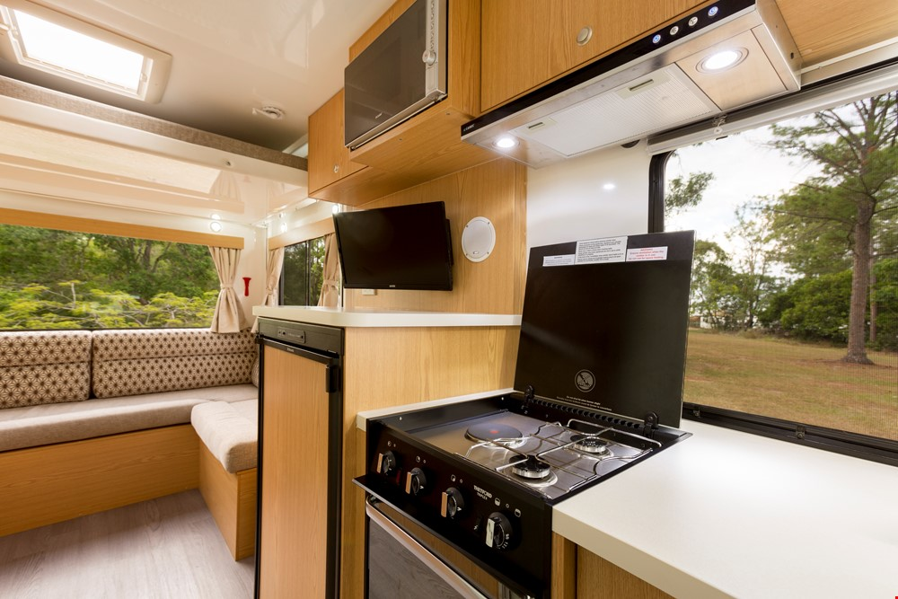 Star RV Pandora Kitchen Area - Camper Rental Byron-Bay - Campervan Rental Shop